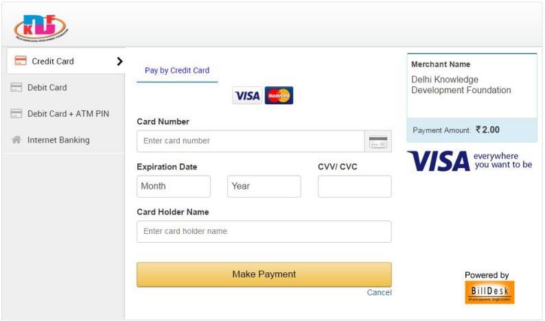corporation bank credit card online application form