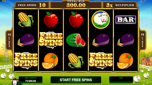 Bar Bar Black Sheep 5 Reel Free Spins Feature