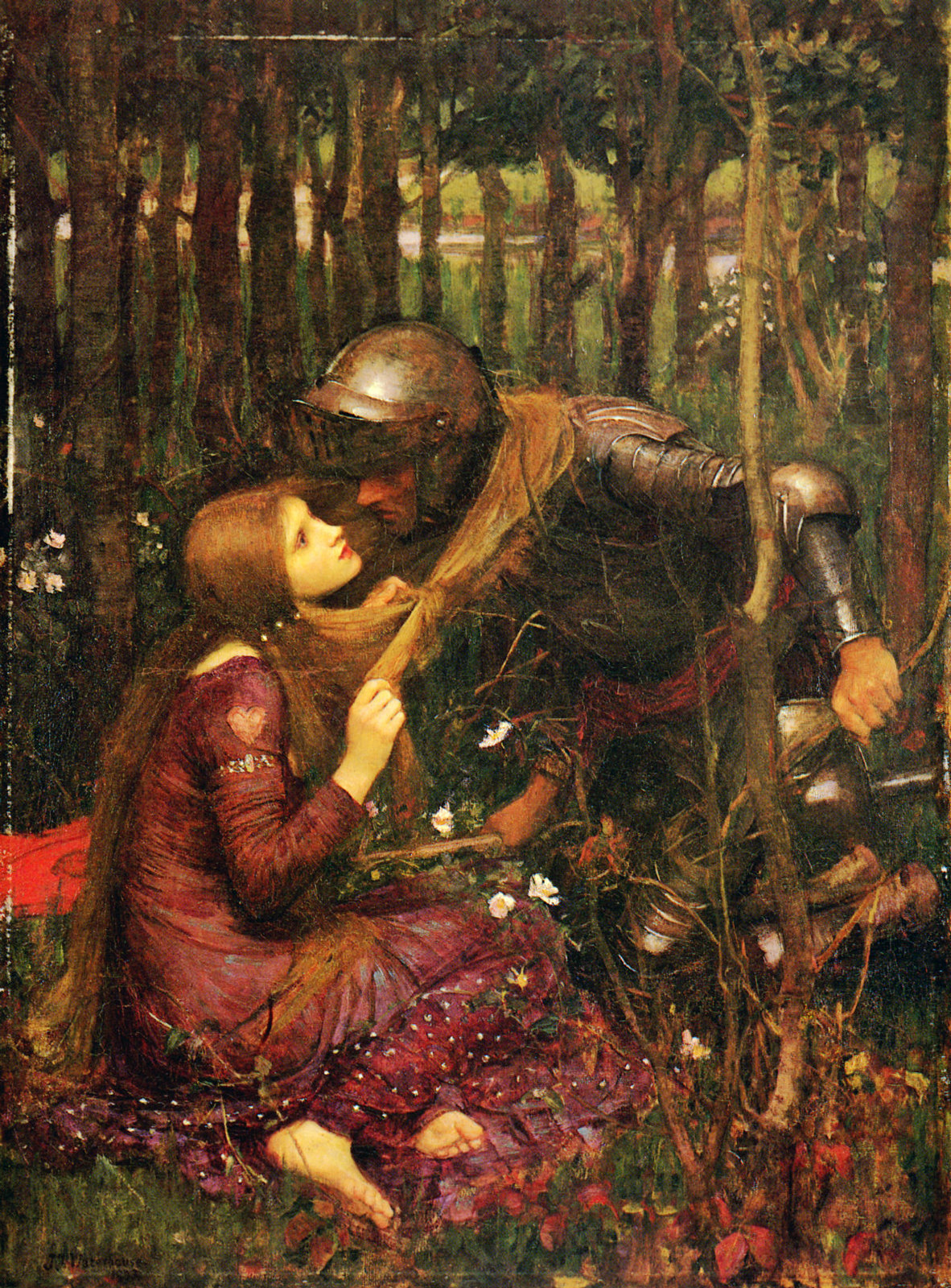 La Belle Dame sans Merci by John William Waterhouse, 1893.