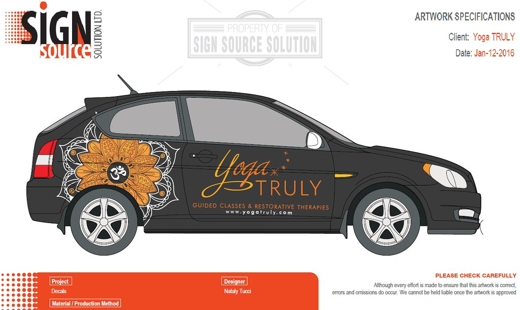 vehicle wrap for yoga school in Grimsby