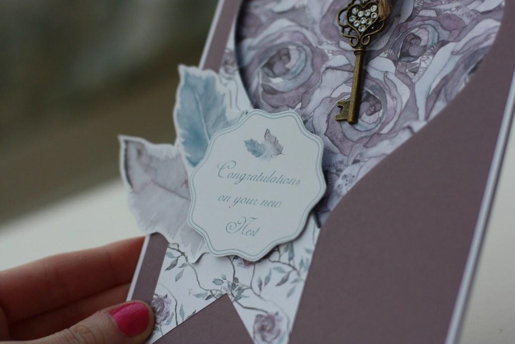 Bloom Beautiful card - New Home card by StickerKitten sentiment closeup
