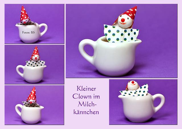 Fastnacht Fasching Karneval Helau Alaaf Ahoi Clown rote Nase Milchkännchen Foto Brigitte Stolle Mannheim 2016