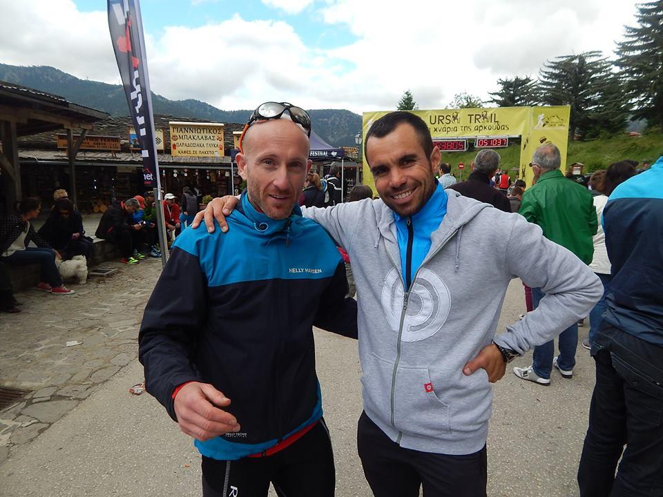 Τόλης Βυζαρέλης και Δημήτρης Κασίμης στο Metsovo Ursa Trail το 2014