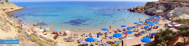 Panoramic photo of Kapparis Beach, Protaras, Cyprus