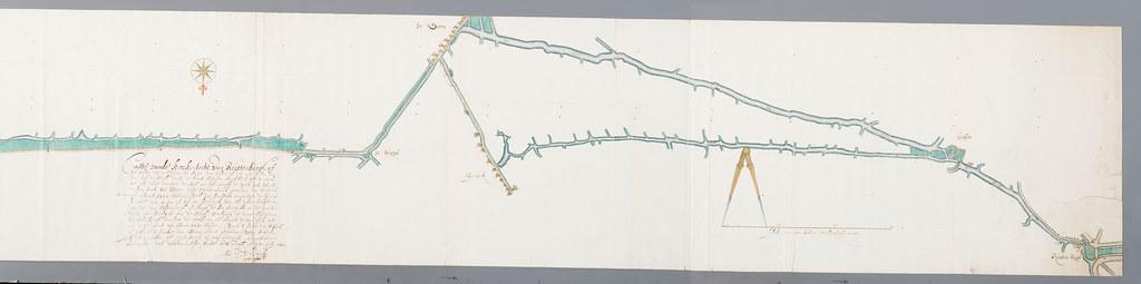 Vaarwegen tussen ursem en hoorn 1652 kaart van de trekvaar flickr - Kaart evenwicht tussen werk en ...