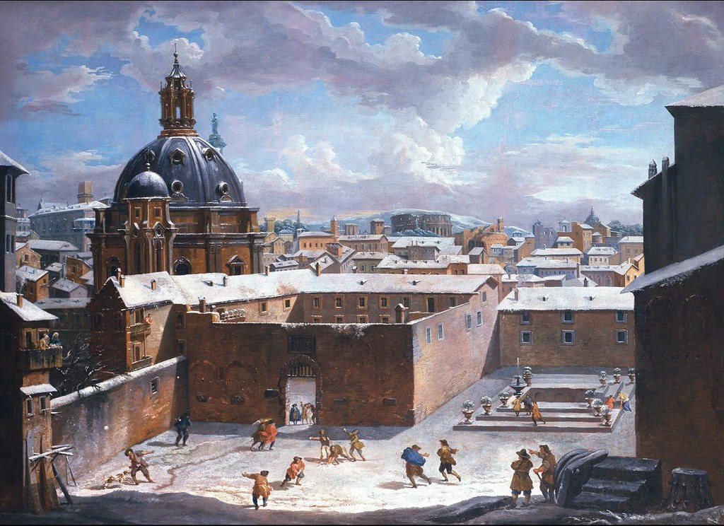 Rome with snow by Giovanni Paolo Panini, 1730