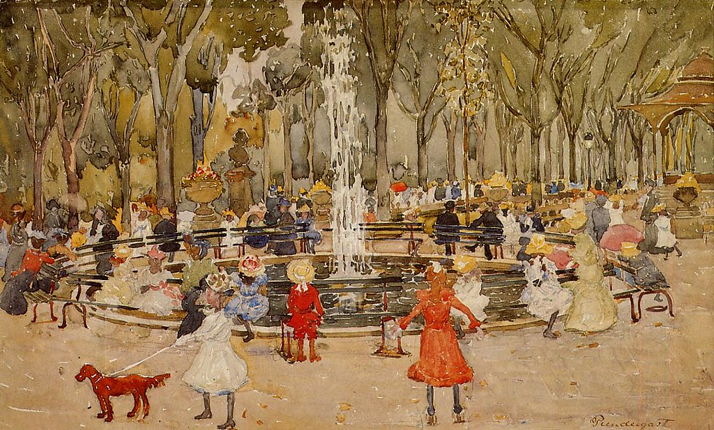 In Central Park, New York by Maurice Prendergast, 1901