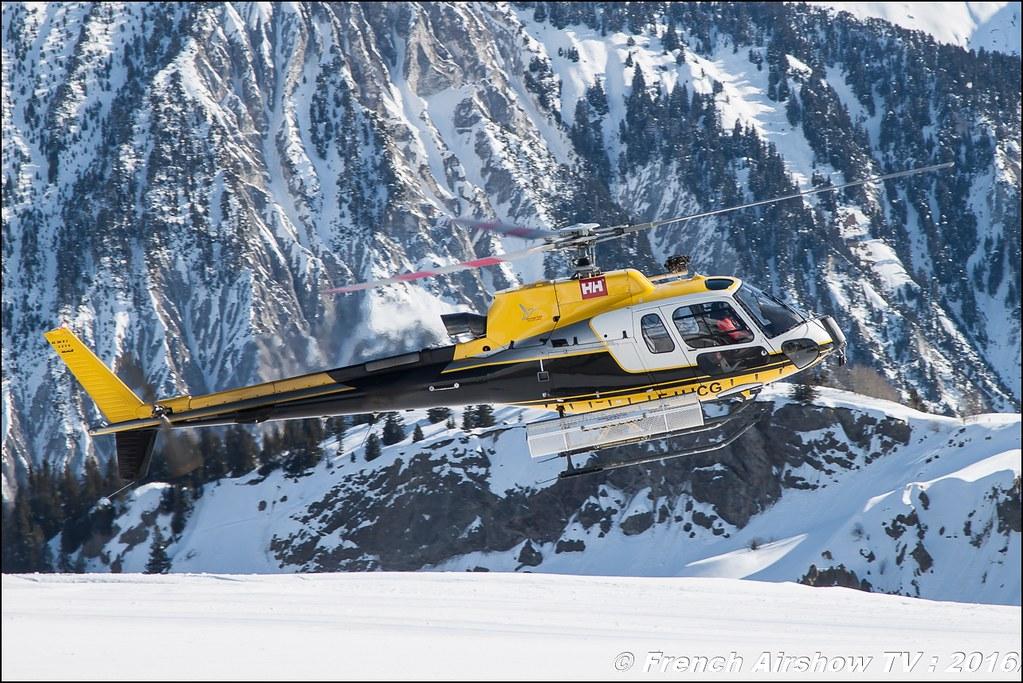 Aérospatiale AS-350 B3 Ecureuil F-HJCG, SAF hélicoptère, Salon Hélicoptère à Courchevel 2016, Meeting Aerien 2016