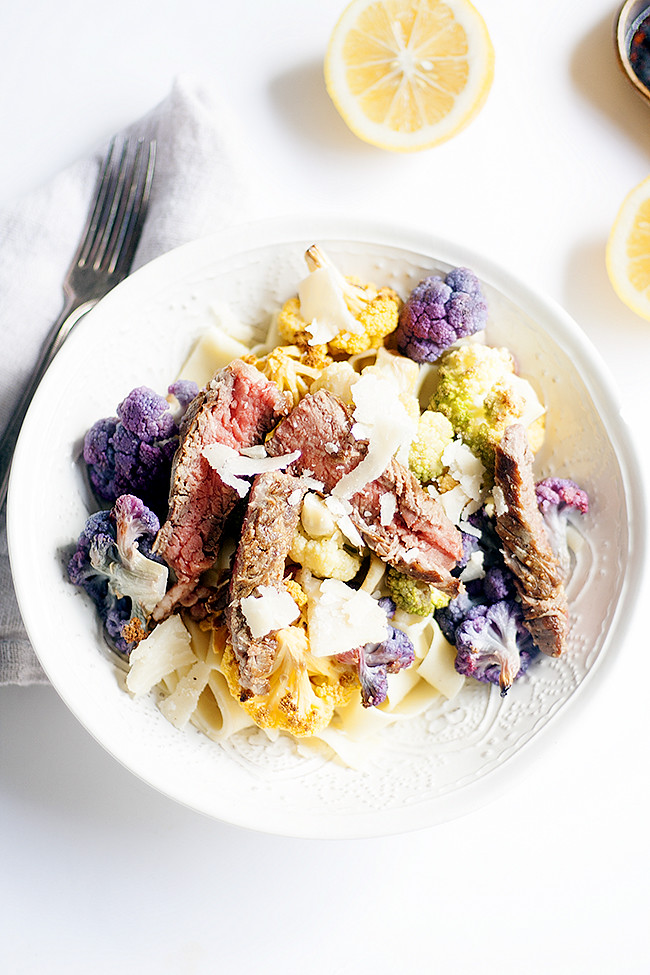 #CAonMyPlate  #CultivateCA tagliatelle with roasted cauliflower