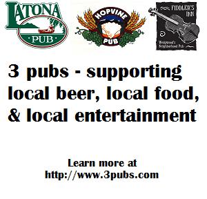 Latona Pub, Hopvine Pub, & Fiddler's Inn. Visit them today!