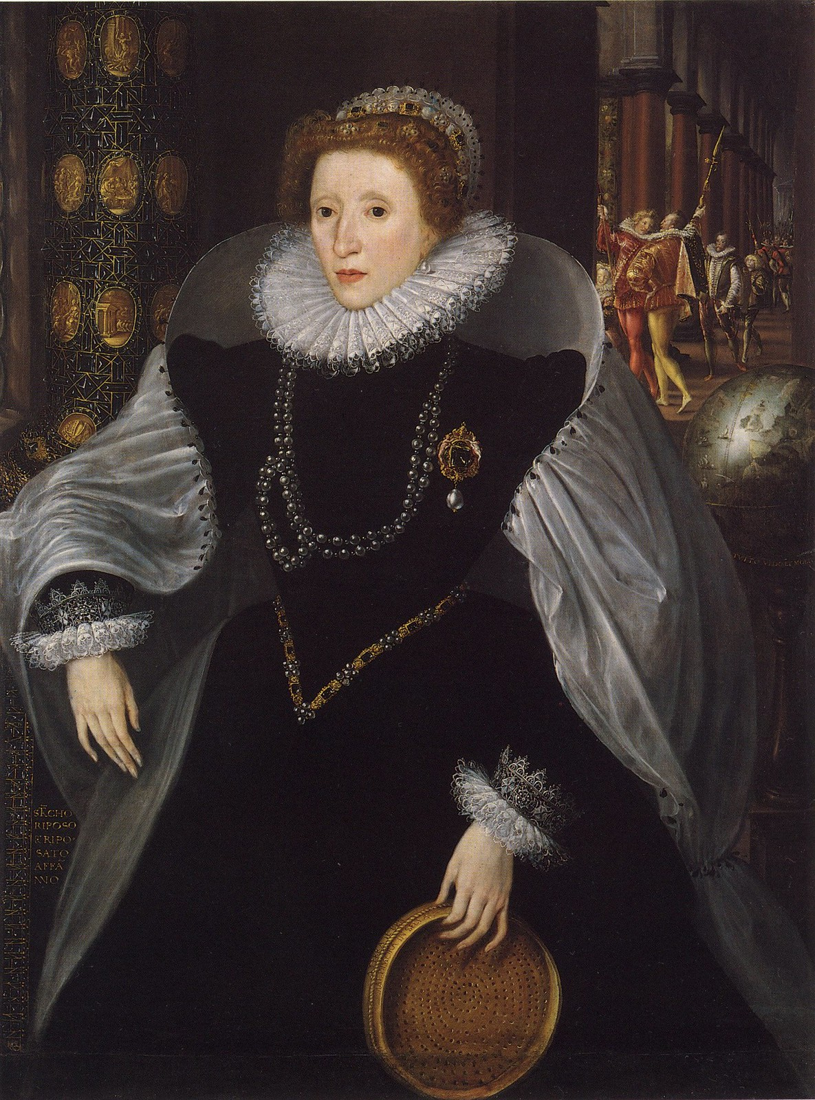 The Siena Sieve Portrait of Queen Elizabeth I by Quentin Metsys the Younger, 1583