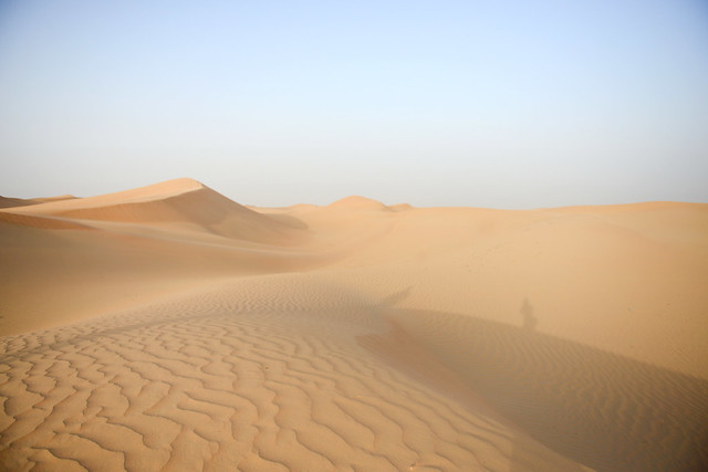 El desierto de Abu Dhabi