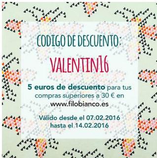 Filobianco, dto San Valentín 2016