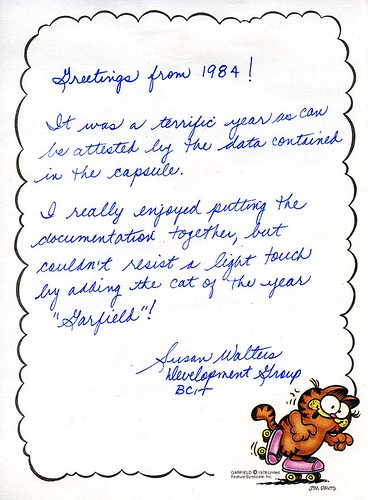 Greetings back to you Susan Walters! I hear you retired recently. Congratulations! BCIT Archives item number: F1-S2-SS25-2014-12.024.