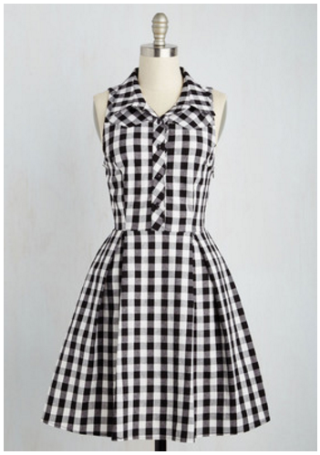 modcloth gingham dress
