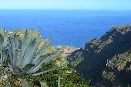 Views to the sea from Barranco de Ruiz, Tenerife