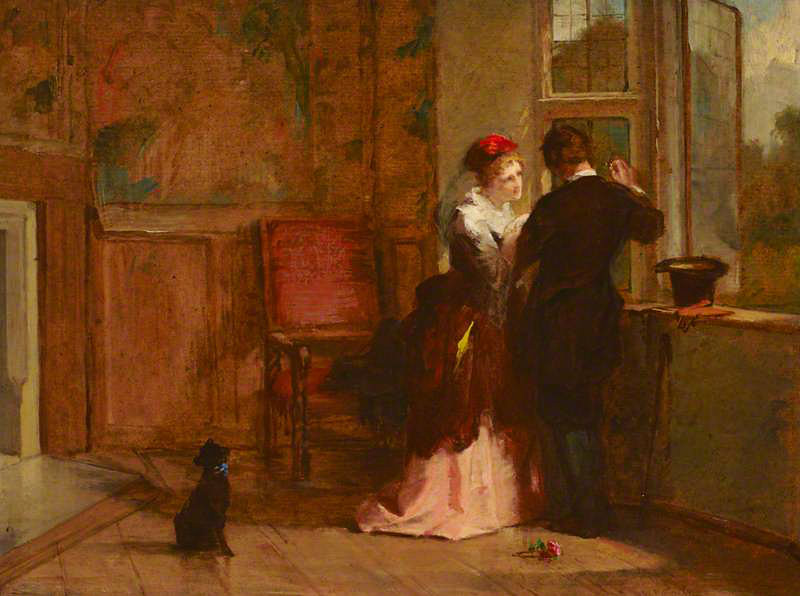 Lovers' Meeting by William Powell Frith (English, 1819 - 1909).