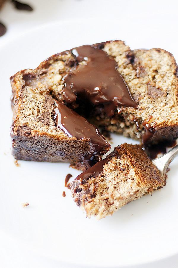 banana split bread with chocolate ganache   heathersfrenchpress.com