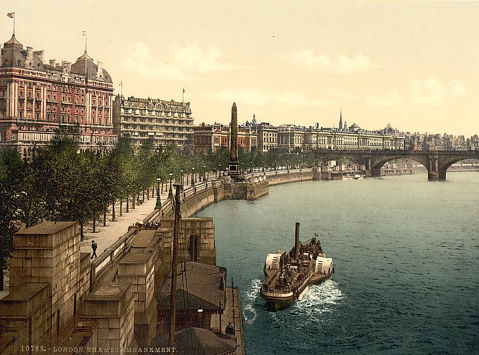 Victoria Embankment, London, c1895.