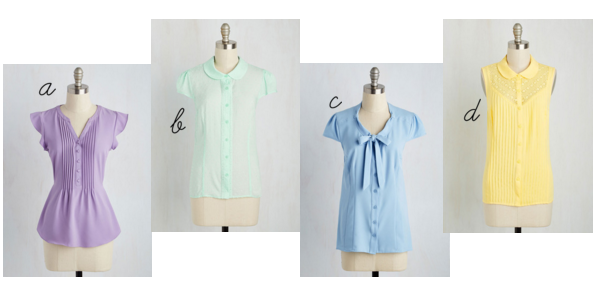 pastel tops modcloth