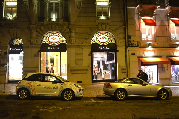 High end shopping on Lisbon's Liberdade