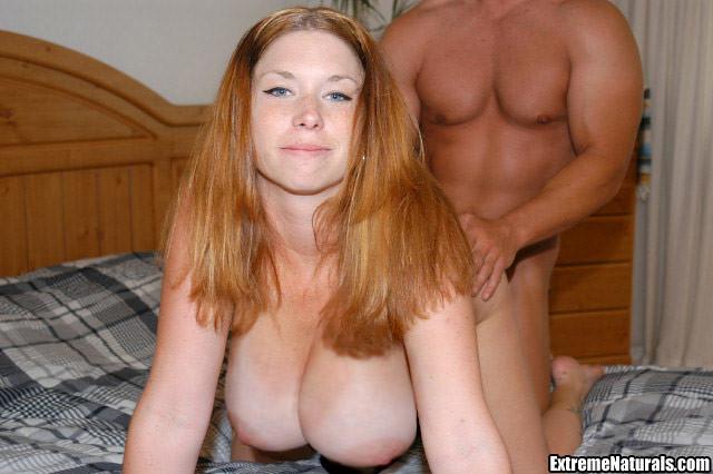 Big natural tits cum can