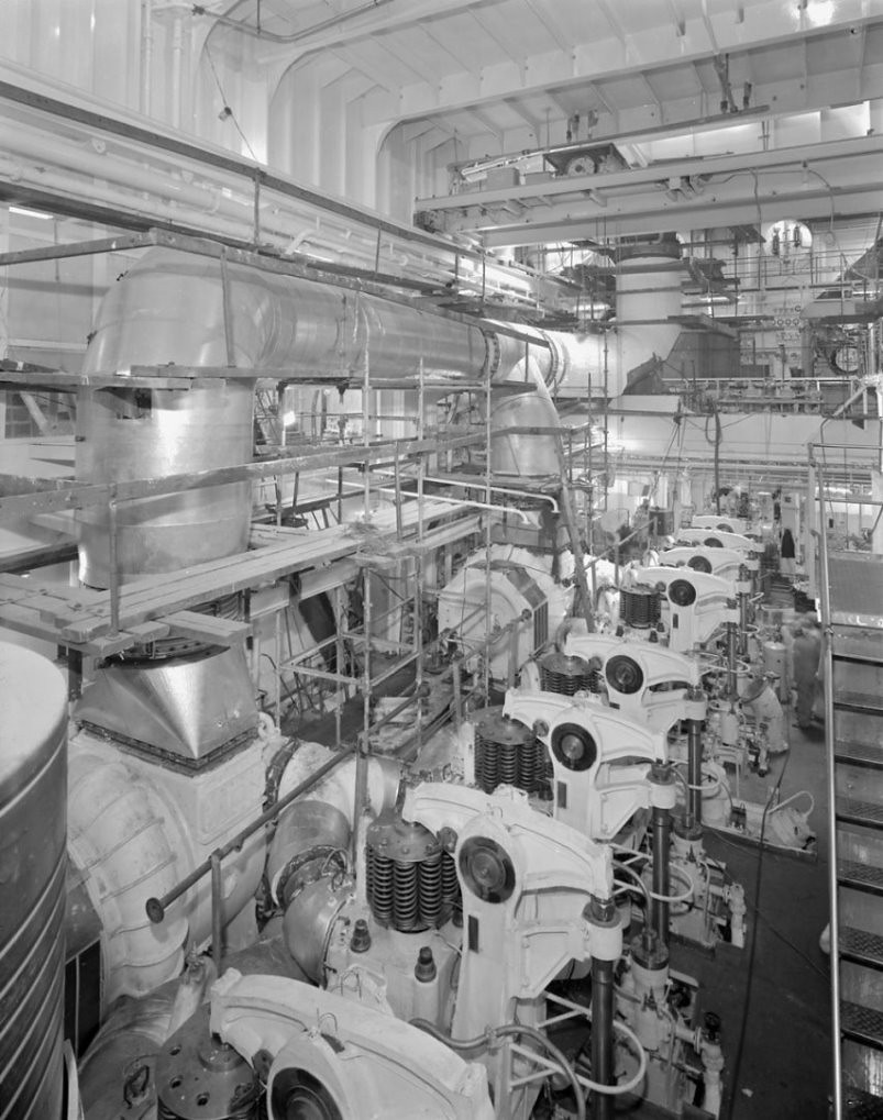 Cruise Ship Engine Room: The Engine Room Of 'Naess Crusader'