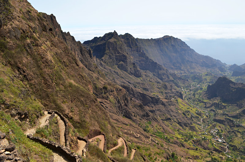 Looking over Ribeira do Paul Valley, Santo Antao, Cape Verde