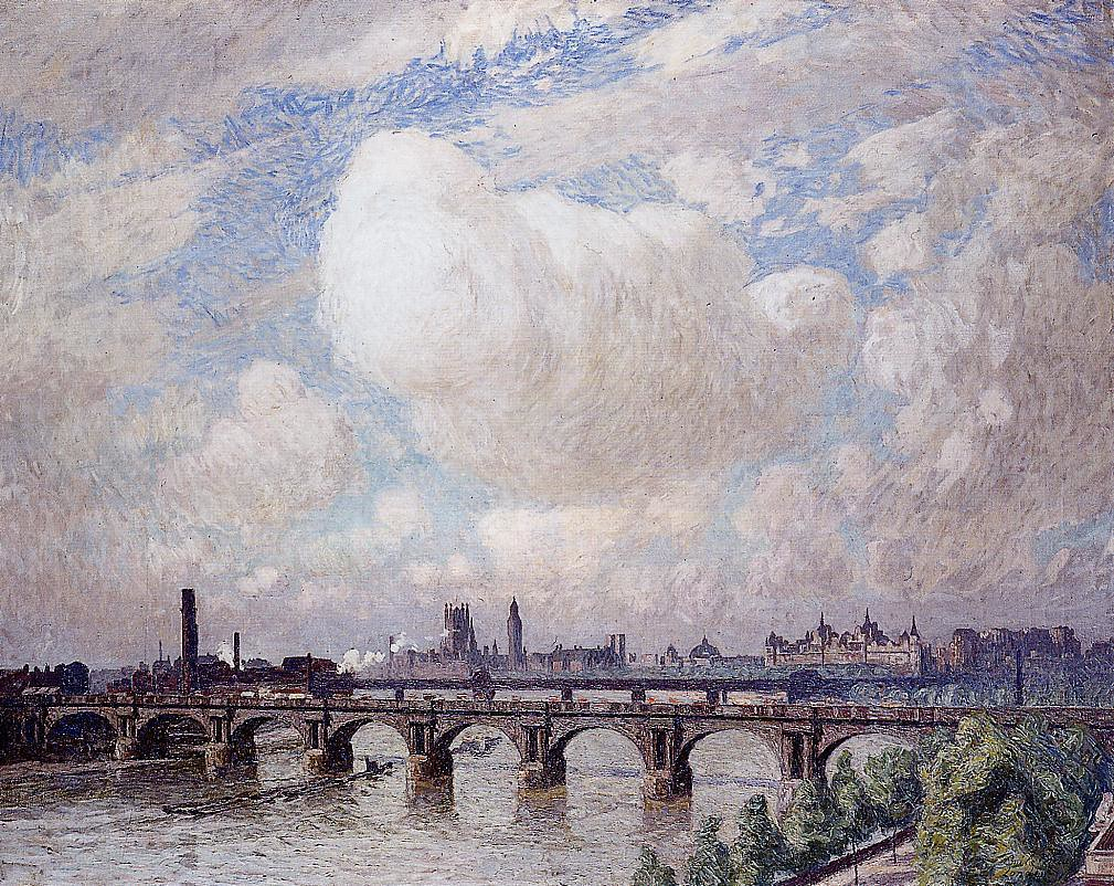 Waterloo Bridge in the Sun by Emile Claus, 1916.