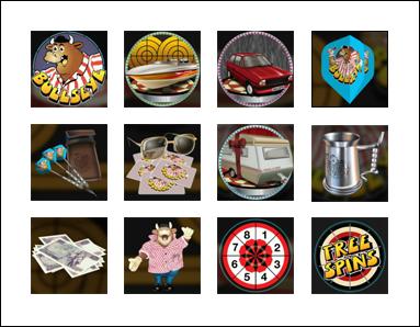 free Bullseye slot game symbols