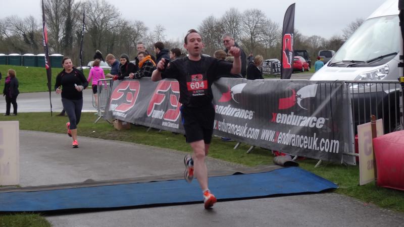 Glediator crossing the finish line.