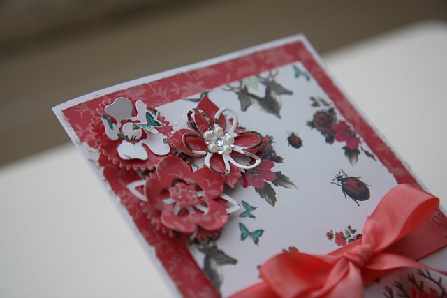 Gypsy Gypsy Ribbons and Pearls Card closeup by StickerKitten
