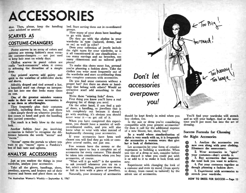 Dress For Success Quotes Retrospace Vintage Style 46 How To Dress For Success 1967