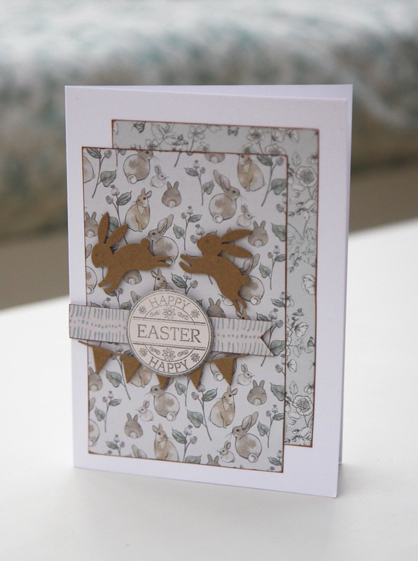 English Garden Easter Bunny Card by StickerKitten