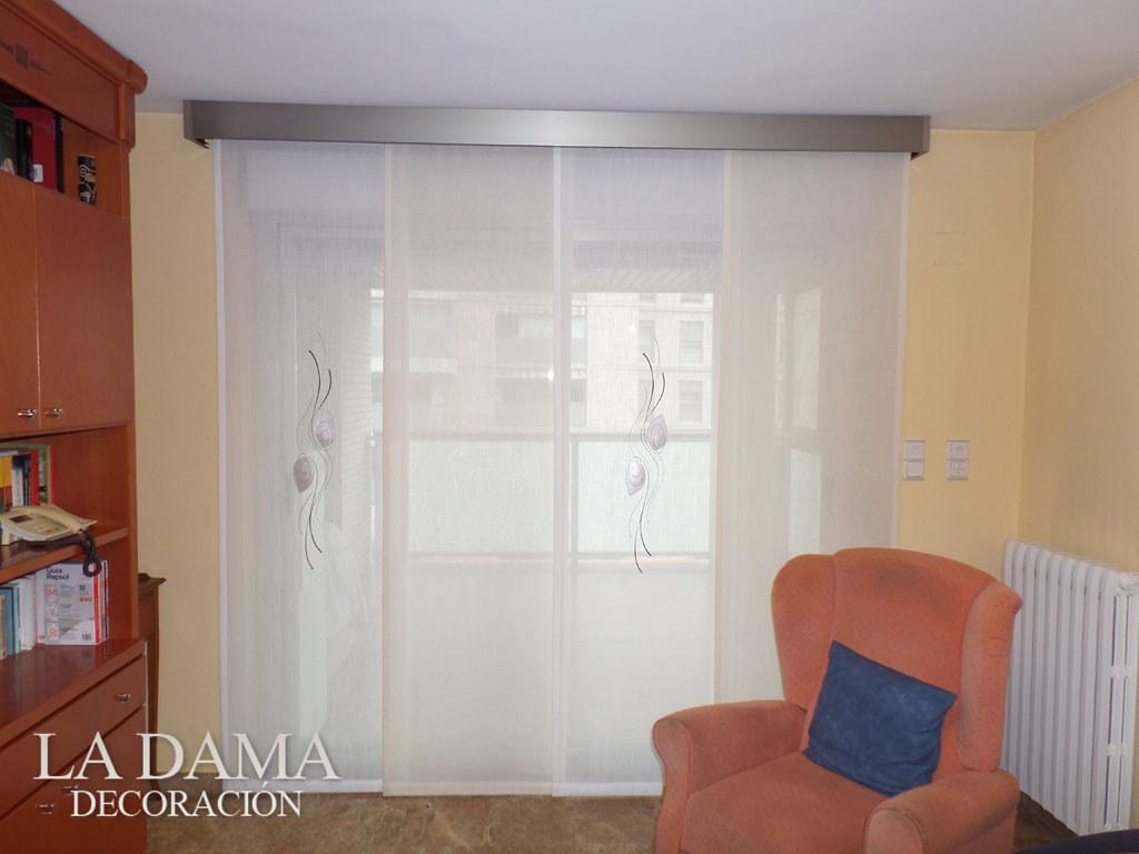Panel japon s bordado alpes compra cortinas en zaragoza - Cortinas panel japones fotos ...
