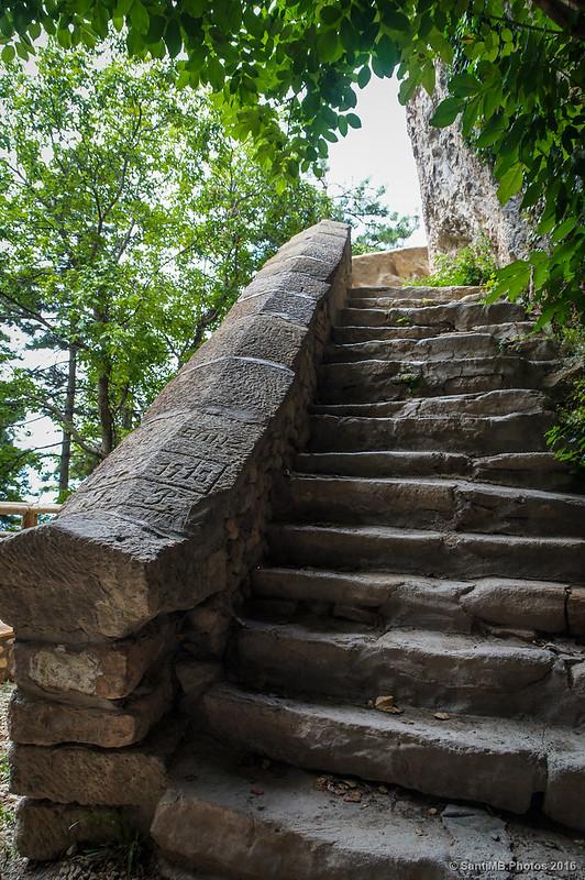 Las escaleras de la Casa del Santero