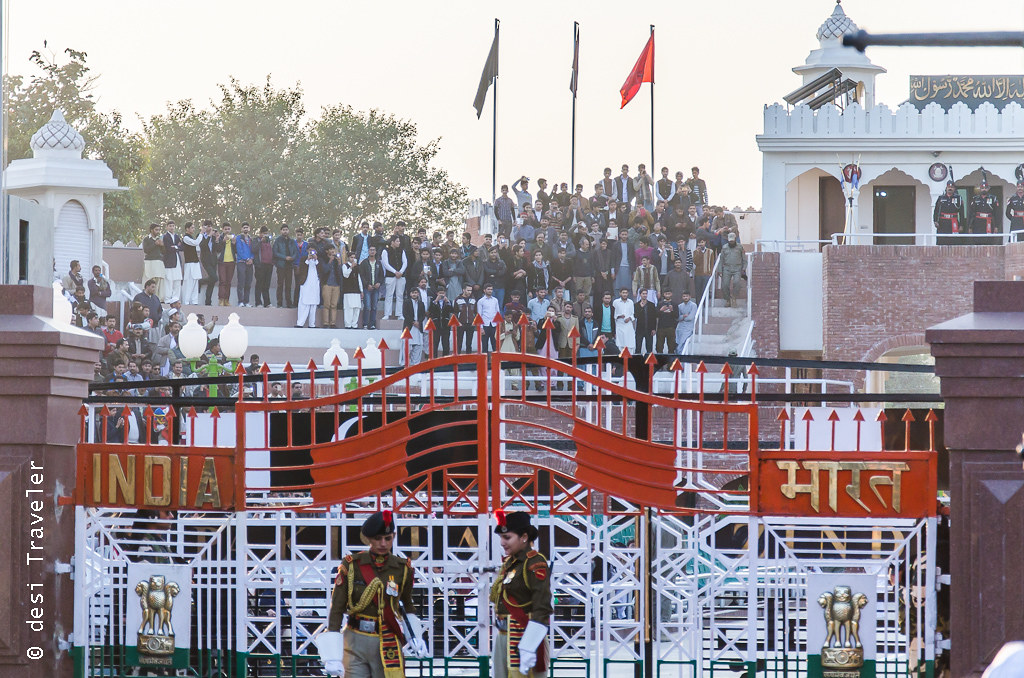 Wagah Border Ceremony - Gate between India and Pakistan