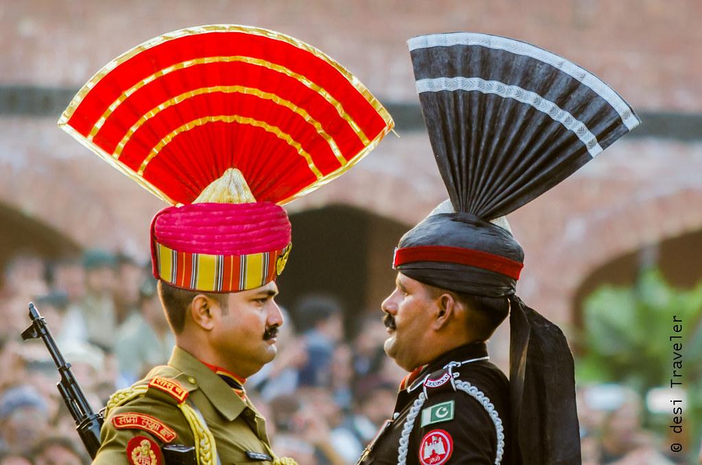 Wagah Border Ceremony Indian and Pakistani soilders