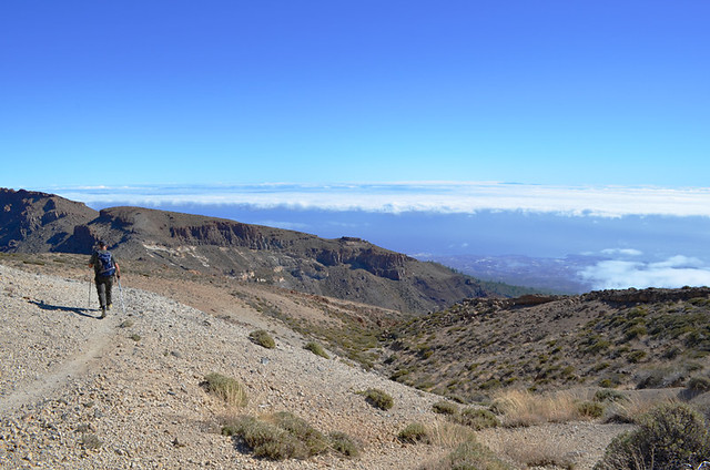 Climbing Guajara, Teide National Park, Tenerife