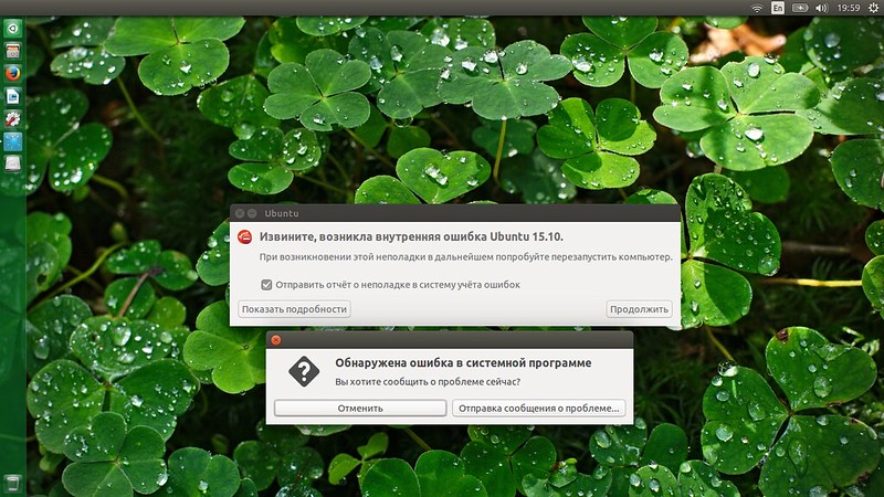 Ubuntu падает