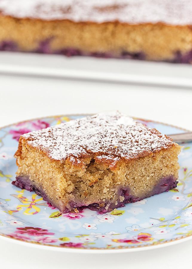 pastel de arándanos
