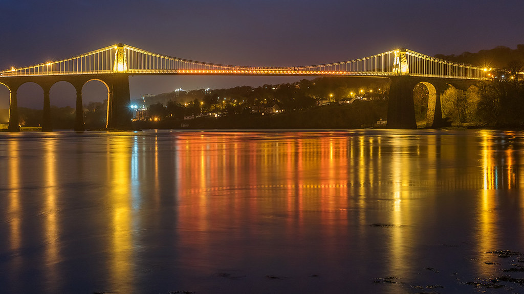 Golden Suspension' - Menai Bridge, Anglesey | Kris Williams | Flickr