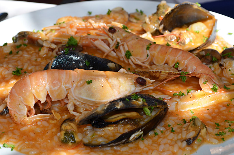 Seafood risotto, Zadar, Croatia