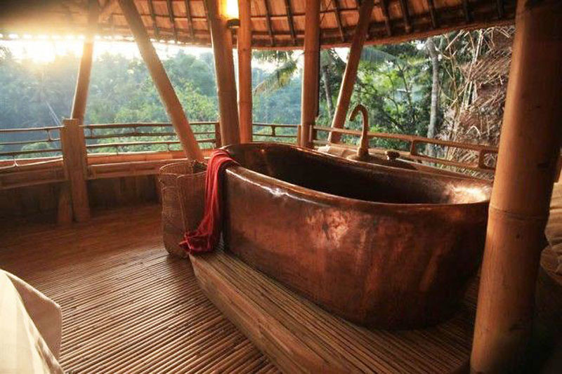 The most important detail  The modest looking but fully functioning  open air copper bathtubs where you soak to the most incredible jungle views. 16 romantic Bali villas with the most indulgent bathtubs and jacuzzis