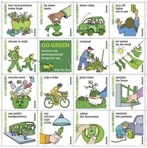 從生活中的小細節一起綠化。圖片來源:Sustainable Awesomeness