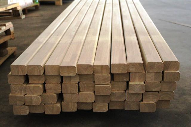 Ghép thanh gỗ cao su bo 2 cạnh