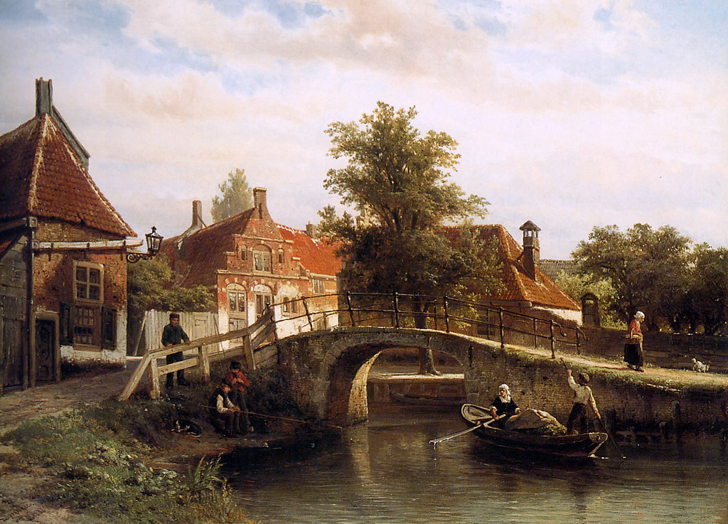 View on Enkhuizen by Cornelis Springer