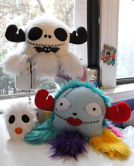 Nightmare Before Christmas - Jack, Sally & Zero plush by LoveAndASandwich