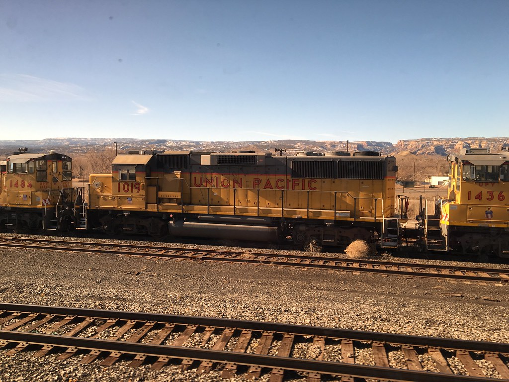 Union Pacific 1019 Emd Gp60 In Grand Junction Co Flickr