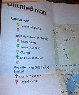 Route map of photography in London